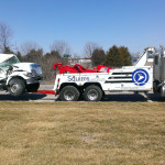 towing damaged truck